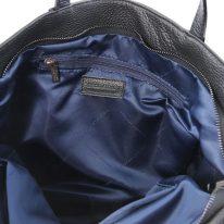 イタリア製シボ型押しレザーの2WAYトートバッグ TL BAG、ブラック、詳細2