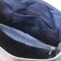 イタリア製シボ型押しレザーの2WAYハンドバッグ LILIA、ブラック、詳細4