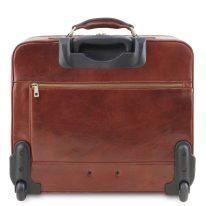 イタリア製ベジタブルタンニンレザーの2車輪スーツケース VARSAVIA、詳細2