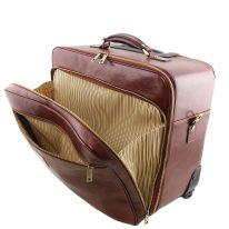イタリア製ベジタブルタンニンレザーの2車輪スーツケース VARSAVIA、詳細3