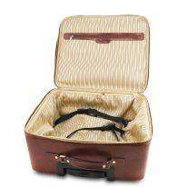 イタリア製ベジタブルタンニンレザーの2車輪スーツケース VARSAVIA、詳細4
