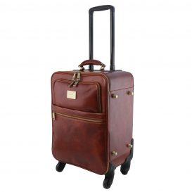 イタリア製ベジタブルタンニンレザー4車輪スーツケース/キャリーバッグ TL VOYAGER、詳細2