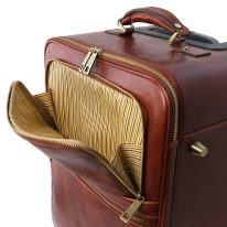 イタリア製ベジタブルタンニンレザー4車輪スーツケース/キャリーバッグ TL VOYAGER、詳細4