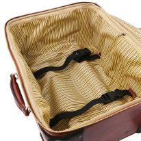 イタリア製ベジタブルタンニンレザー4車輪スーツケース/キャリーバッグ TL VOYAGER、詳細7