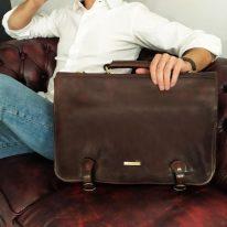 イタリア製ベジタブルタンニンレザーのビジネスバッグ ANCONA、イメージ