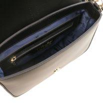 イタリア製スムースレザー2WAYバッグ NAUSICA、ブラック、詳細3