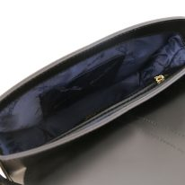 イタリア製スムースレザー2WAYバッグ NAUSICA、ブラック、詳細4