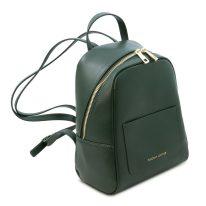 イタリア製サフィアーノレザーのミニリュック TL BAG、フォレストグリーン、詳細1