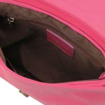 イタリア製ソフトレザーのタッセルつきショルダーバッグ(Sサイズ) TL BAG、フーシャピンク、詳細2