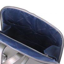 イタリア製パルメラートレザーのリュック TL BAG、シルバー、詳細4