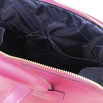 イタリア製サフィアーノレザーのリュック TL BAG、フーシャピンク、詳細3