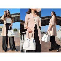 イタリア製パルメラートレザー2WAY巾着バッグ MINERVA、使用イメージ