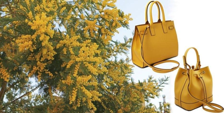 ミモザのような黄色いバッグ_イタリアのミモザの日_amicamakoオンラインショップ (コピー)