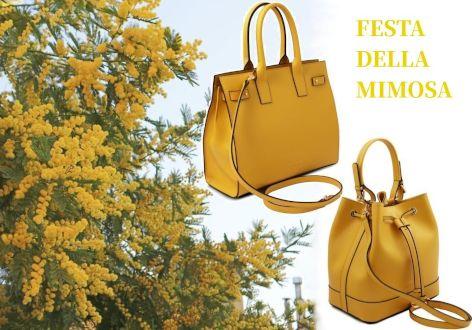ミモザのような黄色いバッグ_イタリアのミモザの日_amicamako