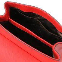 イタリア製パルメラートレザー2WAYハンドバッグ TL BAG、ルージュ、詳細5