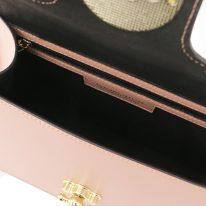 イタリア製パルメラートレザーのゴールドチェーンストラップ付2WAYハンドバッグ TL BAG、ヌード、詳細3