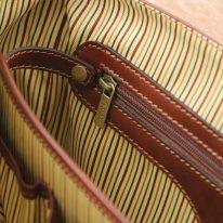 イタリア製ベジタブルタンニンレザーのビジネスバッグ MANTOVA2、ブラウン、詳細1