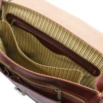 イタリア製ベジタブルタンニンレザーのビジネスバッグ MANTOVA2、詳細5