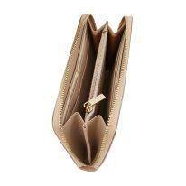 イタリア製スムースレザーのレディース長財布 VENERE、シャンパーニュ、詳細4