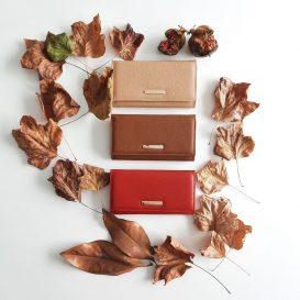 イタリア製シボ型押しレザーのレディース長財布 NEFTI、イメージ
