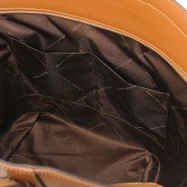 イタリア製パルメラートレザーのトートバッグ TL BAG、コニャック、詳細4