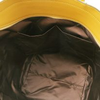 イタリア製パルメラートレザーのトートバッグ TL BAG、マスタード、詳細4
