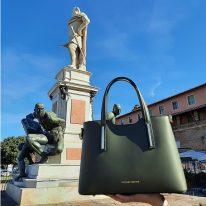 イタリア製スムースレザー2WAYトートバッグSサイズ OLIMPIA、イメージ2